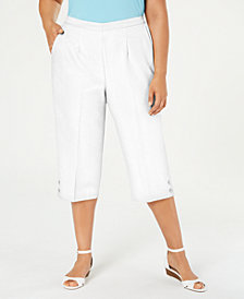 Alfred Dunner Plus Size Martinique Pull-On Capri Pants