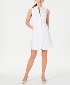 Calvin Klein Drawstring-Waist Shirtdress