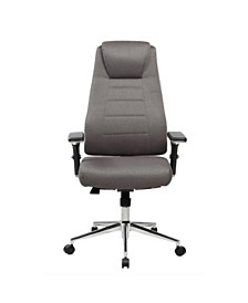 Techni Mobili Comfy Adjustable Home Office Chair, Quick Ship