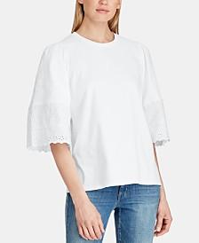 Lauren Ralph Lauren Lightweight Cotton Top, Created for Macy's