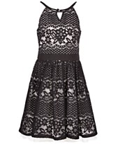 da11ac0c6 Sequin Hearts Big Girls Cut Out Lace Skater Dress, Created for Macy's