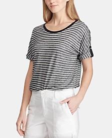 Lauren Ralph Lauren Flutter-Sleeve Cotton Top