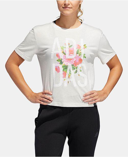 adidas Floral Essentials Logo T-Shirt