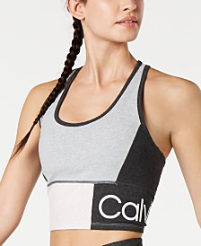 Calvin Klein Performance Colorblocked Racerback Medium-Impact Sports Bra