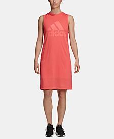 Sports ID Mesh-Overlay Sleeveless Dress