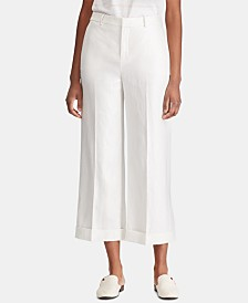 Lauren Ralph Lauren Linen Blend Wide-Leg Pants