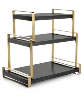 Modern Black & Gold 3-Tier Serving Tower, Created for Macy's