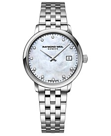 Women's Swiss Toccata Diamond-Accent Stainless Steel Bracelet Watch 29mm