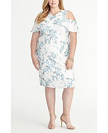 Off the Shoulder Ruffle Floral Lace Dress