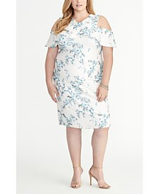 RACHEL Rachel Roy Off the Shoulder Ruffle Floral Lace Dress