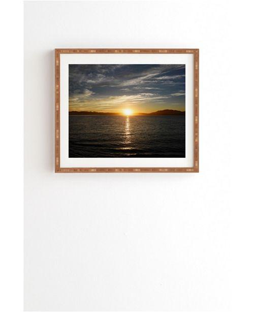 Deny Designs Ensenada Sunrise Framed Wall Art
