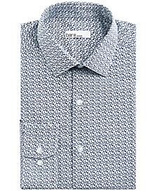 Men's Slim-Fit Stretch Leaf Print Dress Shirt, Created for Macy's