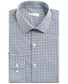 Bar III Men's Slim-Fit Stretch Leaf Print Dress Shirt, Created for Macy's
