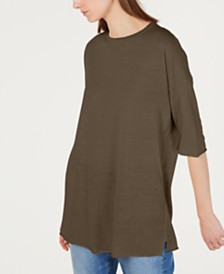 Eileen Fisher Elbow-Sleeve Tunic Top