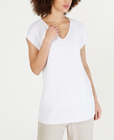 Eileen Fisher Woven V-Neck Tunic