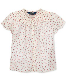 Polo Ralph Lauren Little Girls Floral Cotton Batiste Top