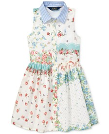 Polo Ralph Lauren Little Girls Floral Cotton Shirtdress