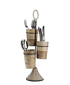 Mind Reader Utensil Caddy Flatware Organizer