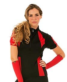InstantFigure Color Block Zip-Up Cycling Jacket