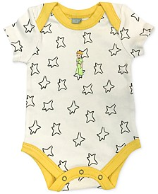 finn + emma Little Prince Baby Girls & Boys Organic Cotton 2-Pc. Bodysuit & Bib Set