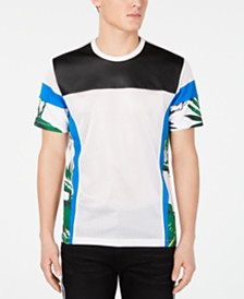 I.N.C. Men's Pieced Colorblocked Mesh T-Shirt, Created for Macy's