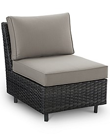 Lake Toba Aluminum Outdoor Armless Middle Unit, Created for Macy's
