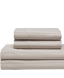Cooling Cotton Satin Stripe King Sheet Set