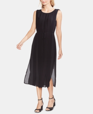Vince Camuto Dresses PLEATED OVERLAY SLEEVELESS DRESS