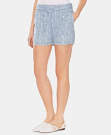 Vince Camuto Belted Cotton Shorts