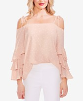 706056bd48ad1 Vince Camuto Ruffled Cold-Shoulder Top