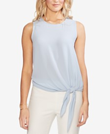 Vince Camuto Sleeveless Tie-Hem Top