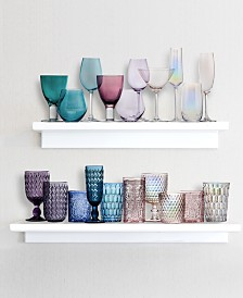 Godinger Modern Vintage Colored Glass Collection