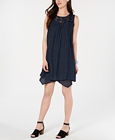 Lace-Yoke Handkerchief-Hem A-Line Dress, Created for Macy's