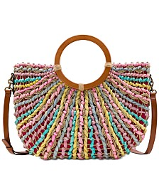 Patricia Nash Lesa Multicolor Straw Bag