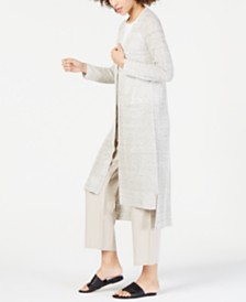 Eileen Fisher Linen Long Cardigan