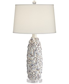 Shells and Stars Ceramic Table Lamp