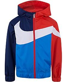 Nike Little Boys Oversized Swoosh Windrunner Jacket