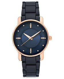 I.N.C. Women's Navy Blue Bracelet Watch 36mm, Created for Macy's