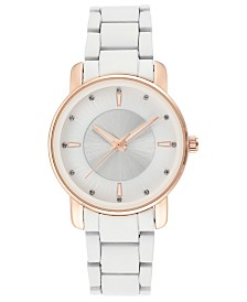 I.N.C. Women's White Bracelet Watch 36mm, Created for Macy's