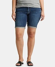Silver Jeans Co. Plus Size Suki Bermuda Jean Shorts