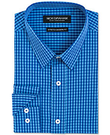 Nick Graham Men's Slim-Fit Gingham Shirt