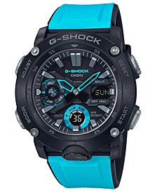 Men's Analog-Digital Blue Resin Strap Watch 48.7mm