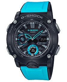 G-Shock Men's Analog-Digital Blue Resin Strap Watch 48.7mm