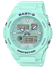 Women's Analog-Digital Aqua Resin Strap Watch 42.4mm