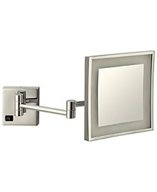 Glimmer Square Wall-Mounted LED 5x Makeup Mirror