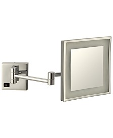 Nameeks Glimmer Square Wall-Mounted LED 5x Makeup Mirror