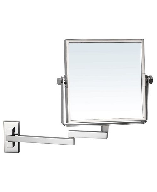 Glimmer Square Wall Mounted Double Face 3x Makeup Mirror