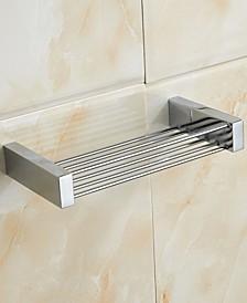 General Hotel Chrome Brass Rectangular Shower Basket
