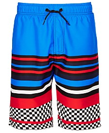 Ideology Big Boys Striped Swim Trunks, Created for Macy's