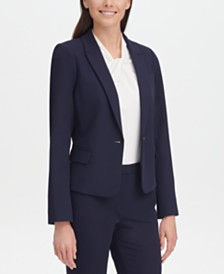 Tommy Hilfiger Twill One-Button Blazer